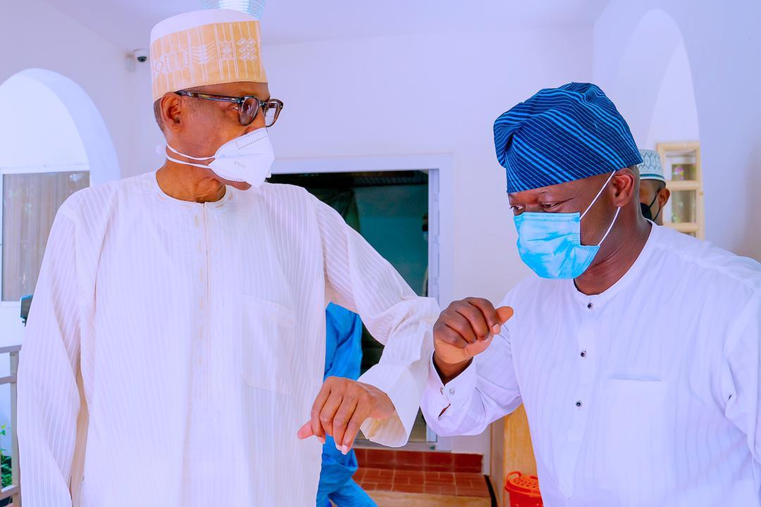 When Oando Boss, Wale Tinubu Celebrated Eid- il Kabir With President Buhari
