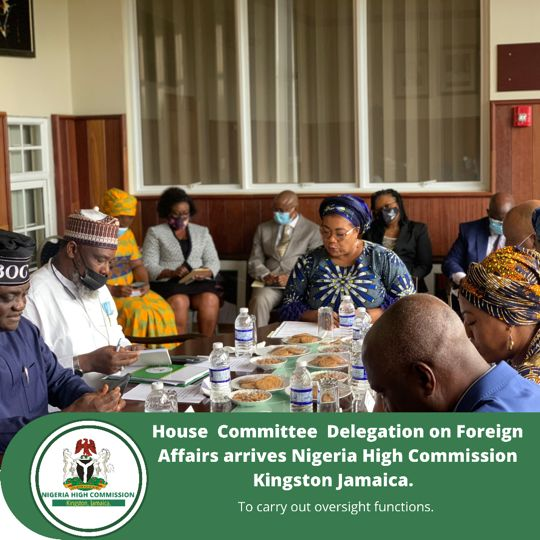 House Committee Delegation Arrive Nigeria's High Commission In Kingston Jamaica For Oversight Duties